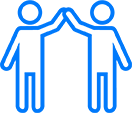 ICONO DISFRUTAR Azul