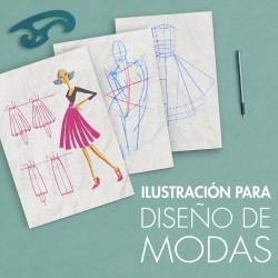 Ilustración de diseño de modas