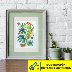 Ilustración Botánica Artística Imagen