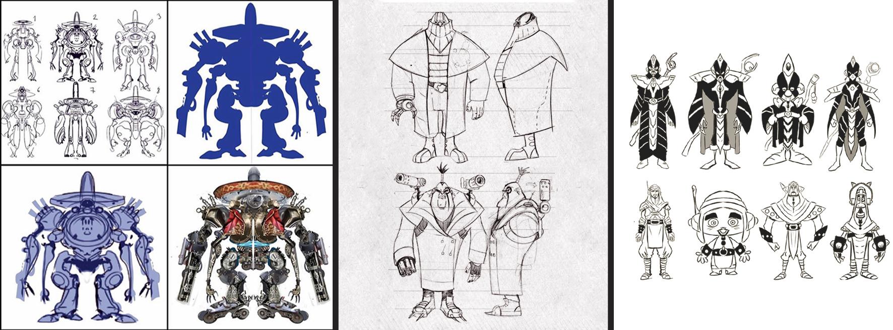 Banner Diseño de personajes general Santa Gráfica online