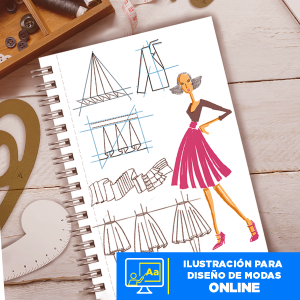 Ilustración para diseño de modas online Imagen