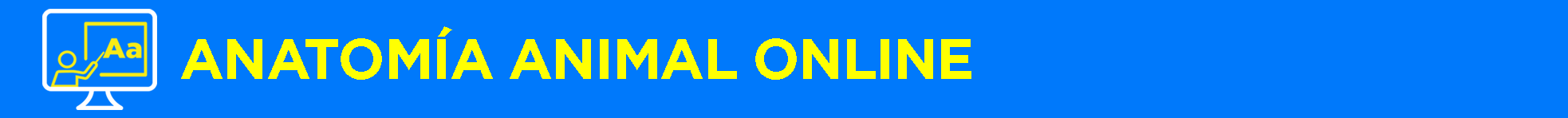 Banner título Anatomía animal Online