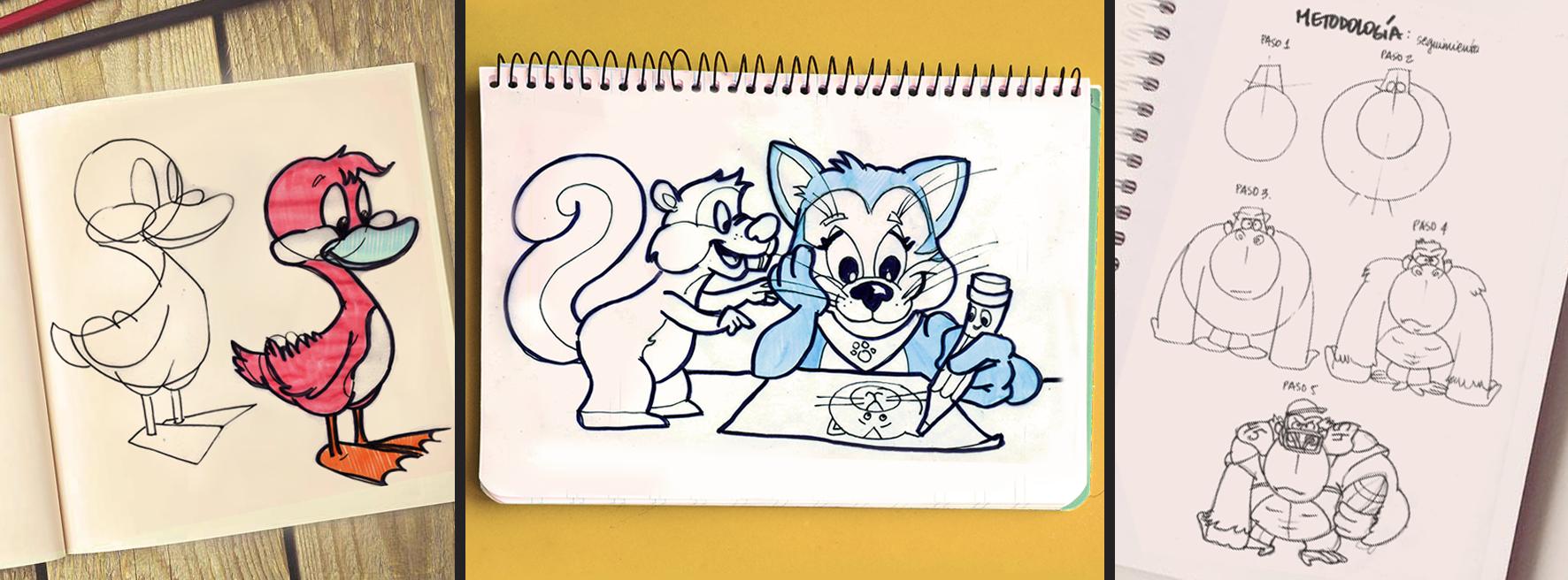 Banner Caricatura de animales para niños general Santa Gráfica online